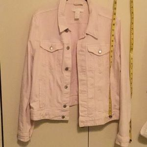 H&M pink denim jean jacket 16